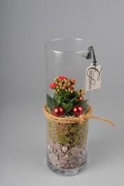 Высокая ваза с комнатным растением