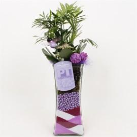 Высокая ваза с декоративным песком