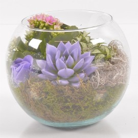 Флорариум круглая ваза