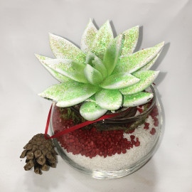 Новогодний-флорариум-с-шишечкой