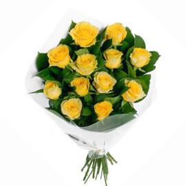 Желтые розы, 11шт.