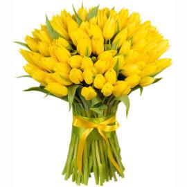 Желтые тюльпаны 101шт