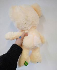 Медвежонок бежевый с синим_(35см)