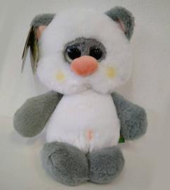 Мишка белый с серым