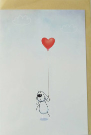 Шарик с сердцем-открытка